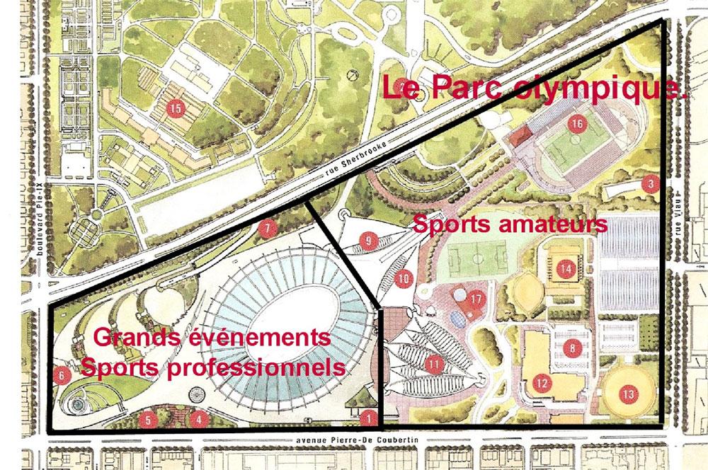 Stade olympique montr al la conception de base du parc - Piscine du stade olympique ...